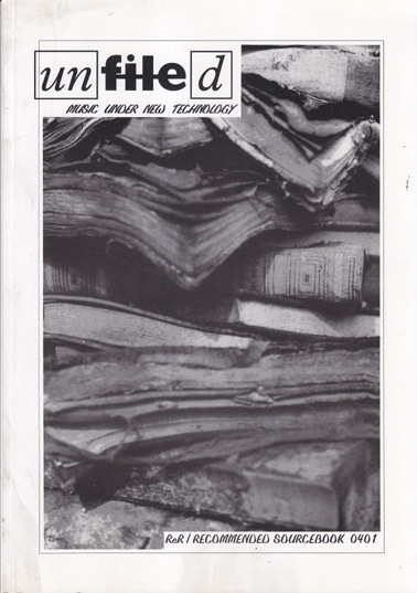 UNFILED 1: ReR Quarterly 0401 (magazine only)