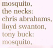 NECKS, THE: Mosquito/See Through (dbl)