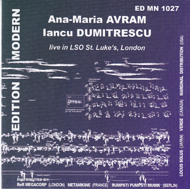 IANCU DUMITRESCU and ANA-MARIA AVRAM: Live in LSO St. Luke's London