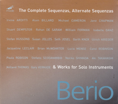 BERIO, LUCIANO: The complete sequenzas and works for solo instruments. (4 CDs & book)
