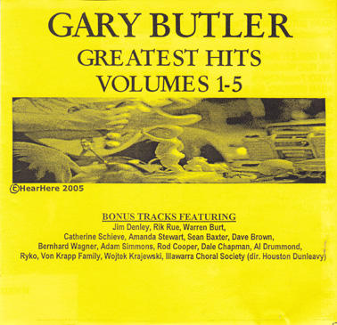 BUTLER, GARY: Greatest Hits Volumes 1-5