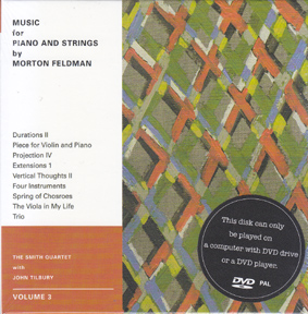 FELDMAN, MORTON: Music for Piano and Strings: Volume 3(DVD)