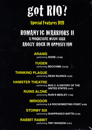 ROMANTIC WARRIORS 2: Special Features DVD