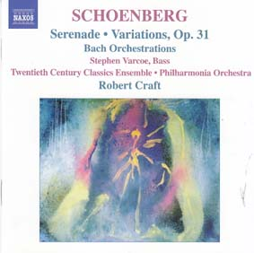 SCHOENBERG, ARNOLD: Serenade, variations Op 31, Bach Orchestrations